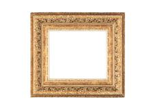 Vintage golden frame with blank space. Stock Photos