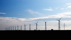 Wind power station Stock Footage