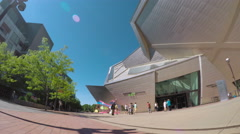 Denver Art Museum and Denver Public library in the Summer. Stock Footage