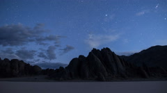 Milky Way Galaxy Over The Racetrack Playa Time Lapse - stock footage