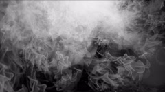 4k Clouds tunnel mist smoke space,gas steam fireworks particles background. Stock Footage