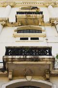 Dirty Neo Classical Building Facade Stock Photos