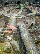 Spanish Fort Ruin at Intramuros Manila Stock Photos