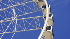 Big Wheel Amusement Ride Blue Sky Fun Carousel Stock Footage