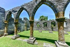 Unfinished Church - Bermuda Stock Photos