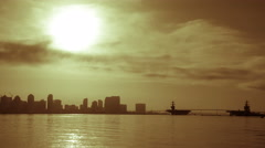 Sunrise Over Downtown San Diego Skyline Timelapse Stock Footage