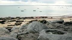 Beach of the Sableaux in Noirmoutier island Stock Footage