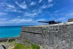 Fort Saint Catherine - Bermuda Stock Photos