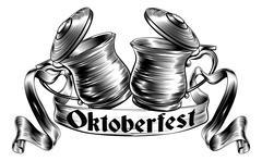 Beer Stein Tankard Toast Oktoberfest Concept Stock Illustration