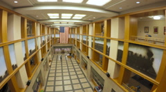 Interior of Denver Public Library. Stock Footage