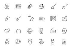 Music Hand Drawn Doodle Icons Pack - stock illustration