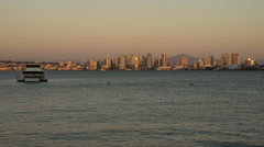 San Diego Bay & Skyline Time Lapse at Dusk - stock footage