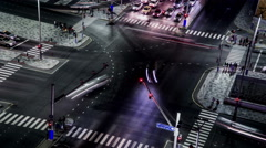 Timelapse and aerial view of the traffic at crossroad, Abu Dhabi Arkistovideo