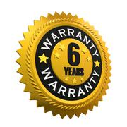 6 Years Warranty Sign Stock Illustration