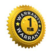 1 Year Warranty Sign Stock Illustration