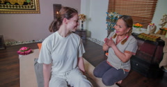 Masseur is thanking the guest for her time and trust - stock footage