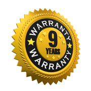 9 Years Warranty Sign Stock Illustration
