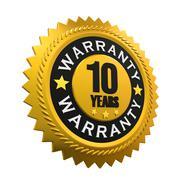 10 Years Warranty Sign - stock illustration
