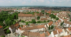 The castle Kaiserburg in Nuremberg Stock Footage