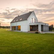 Modern design white villa Stock Photos