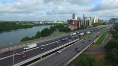 Aerial Footage Austin Traffic Stock Footage