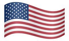 Flag of the United States waving - stock illustration