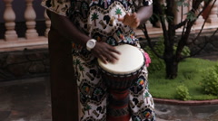 African man plays African drums Arkistovideo