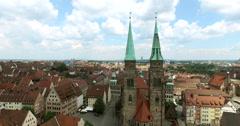 The church Sankt Sebald of Nuremberg Stock Footage