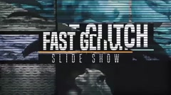 Fast Glitch Slideshow Stock After Effects