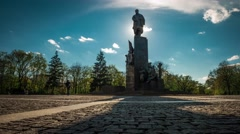 Shevchenko monument in the park named after Shevchenko in Kharkiv Stock Footage