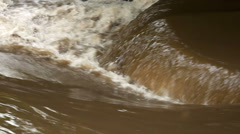 Fast flowing flood water. - stock footage