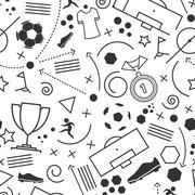 Abstract seamless soccer wallpaper pattern Stock Illustration