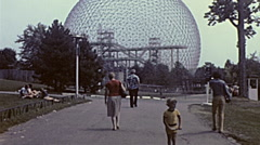 Montreal 1975: people at the Expo 67 site Stock Footage