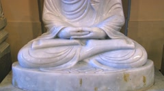 Marble Buddha statue in the Temple of Tooth in Kandy, Sri Lanka. Stock Footage
