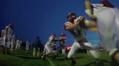 Football Defensive Drill in Slow Motion Stock Footage