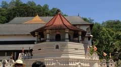 Exterior of the Temple of Tooth (Dalada Maligava) in Kandy, Sri Lanka. Stock Footage