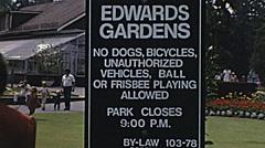 Toronto 1975: wedding ceremony at Edwards Gardens Stock Footage