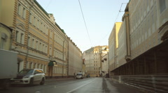 Summer early morning on the old center in Moscow Stock Footage