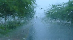 See rainny in the car Stock Footage