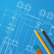 Engineer or architect illustration - stock illustration