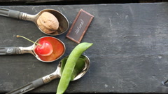 Bio, organic or natural food idea Stock Footage