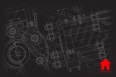 Vector architect background Stock Illustration