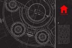 Vector architect background Stock Illustration