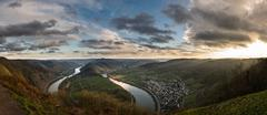 Panorama Moselle Loop Bremm, Germany - stock photo