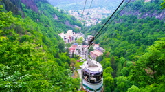 The cableway in Borjomi Stock Footage