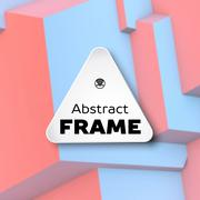 Abstract frame with rose quartz and serenity cubes Stock Illustration