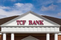TCF Bank Exterior and Logo Stock Photos