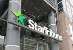 StarTribune Headquarters and Logo Stock Photos