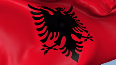 Albania Waving Flag Background Loop Stock Footage