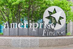 Ameriprise Financial, Inc. Corporate Headquarters and logo - stock photo